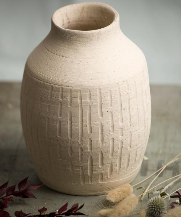 Ručne točená hlinená váza Heaven