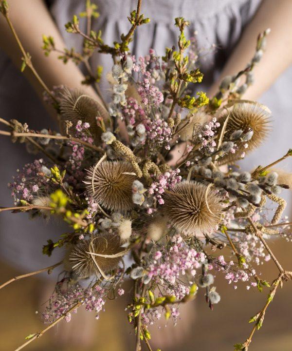 Detail kytice sušených kvetov Welcome Spring