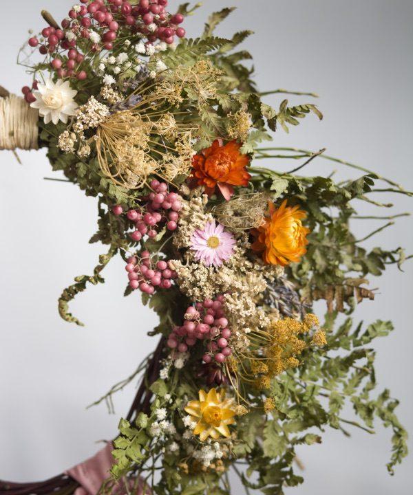 Detail venca zo sušených kvetov Pure Beauty