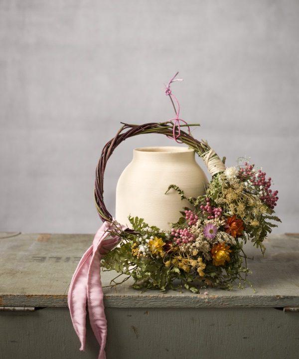 Veniec zo sušených kvetov Pure Beauty okrášli váš príbytok