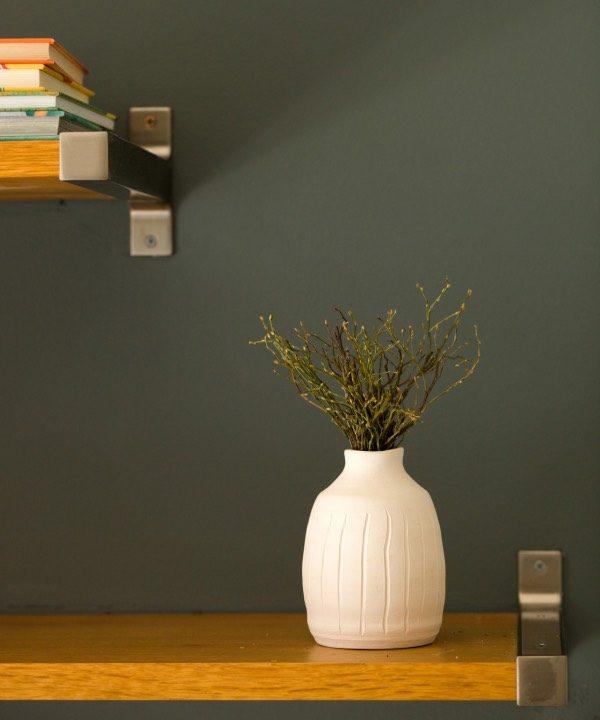 Ručne vyrábaná kameninová váza Nature so sušnými rastlinami