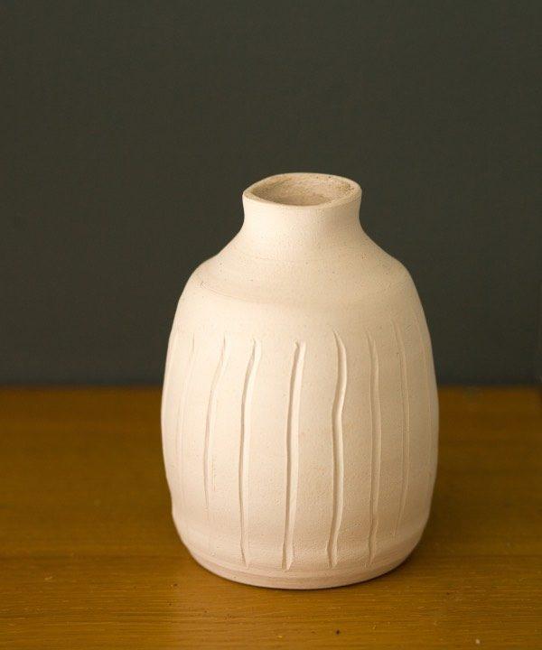 """Ručne """"točená"""" kameninová váza Nature deatil"""