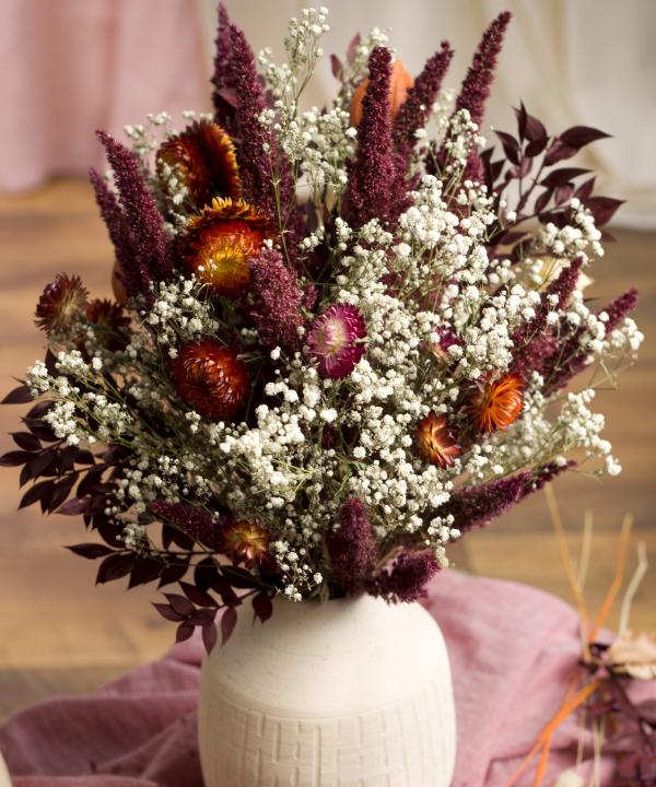 Kytica zo sušených kvetov Red Love detail