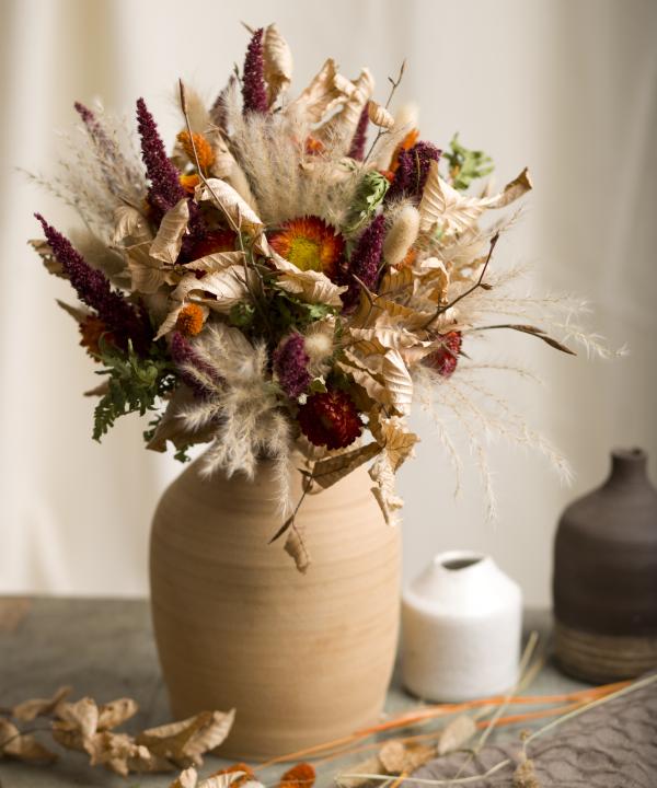 Kytica zo sušených kvetov Summer Memories vo vázey