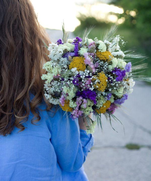 Kytica zo sušených kvetov Be Happy